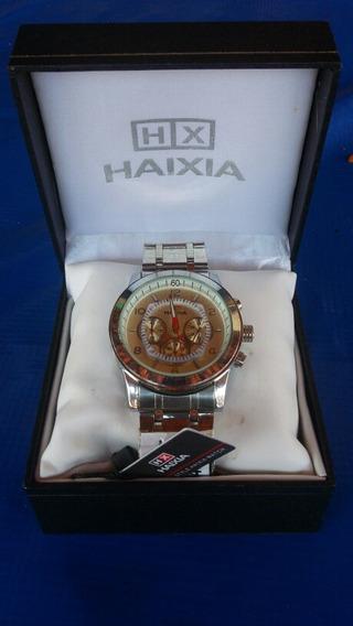 Relógio Original Haixia Masculino Prata.