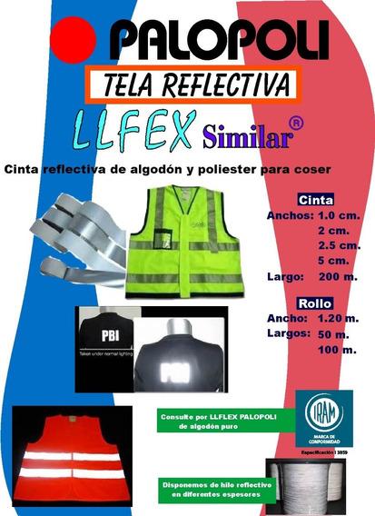 Reflectivo Tela Poliester Blanco (gris) Similar 2cm X 200m