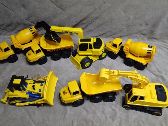 Grande Lote Trator Caminhão Construção Escavadeira Betoneira