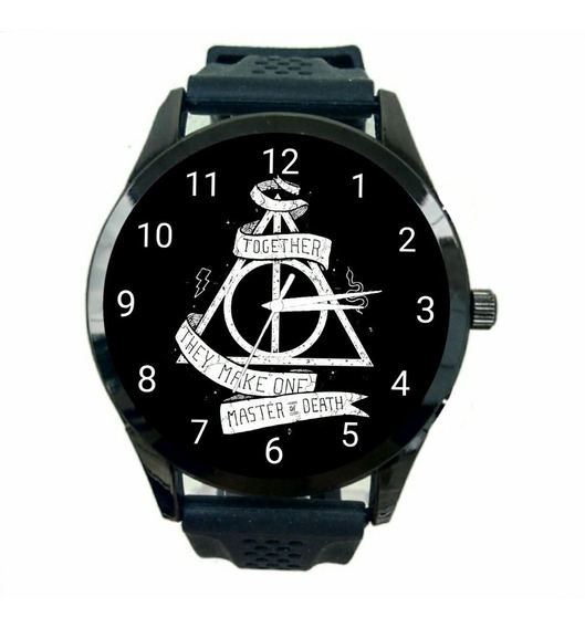 Relógio Reliquias Da Morte Masculino Hp Harry Potter Novo Promoção T50