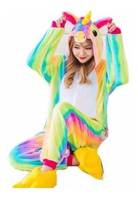 Kigurumi Unicornio Arcoiris Pijama Adultos Unisex