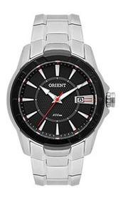 Relógio Orient Masculino Aço Prata Visor Preto Mbss1325 Pas