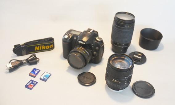 Câmera Nikon D50 + 3 Lentes + Acessórios!