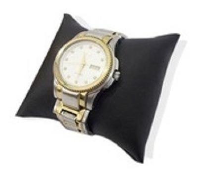 Kit 10 Almofada P Relógio Tecido Suede E Fibra De Silicone