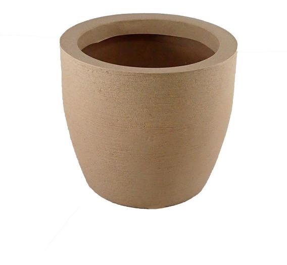 Vaso Decorativo De Planta Flor Redondo Cone 39x29x36