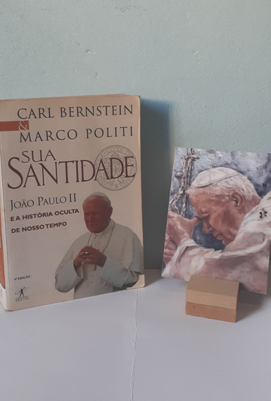 Livro Biográfico De São João Paulo Ii E Ícone Médio + Brinde