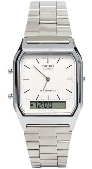 Relógio Vintage Analógico Digital Casio Aq-230a-7dmq Unissex