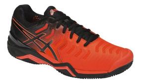 Tênis Para Jogar Tênis Asics Gel Resolution 7 Clay Laranja