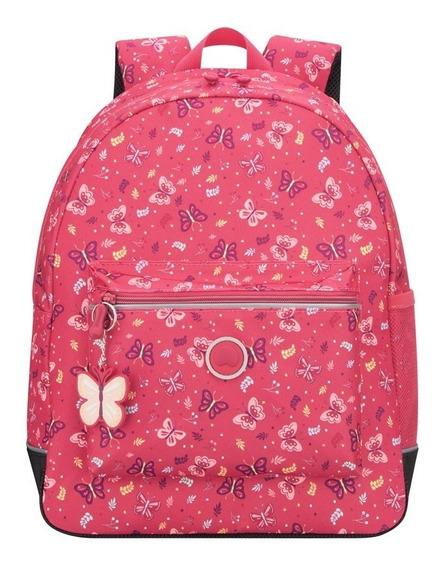 Mochila Escolar De 1 Compartimiento Delsey (rosa Butterfly)