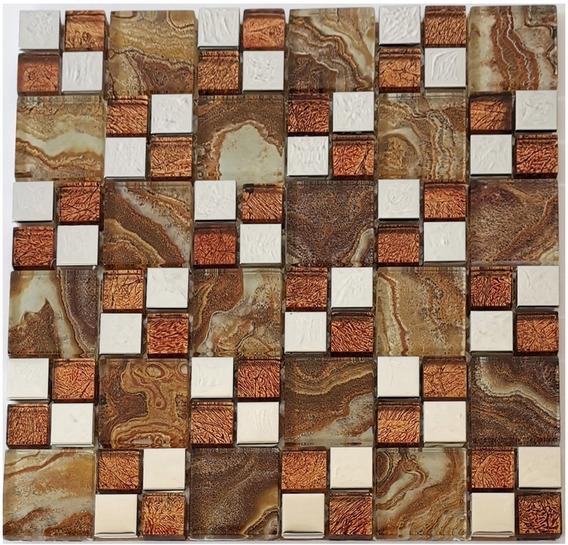3 X Malla Mosaico Decorativa Cenefa Vidrio Lisboa Beige