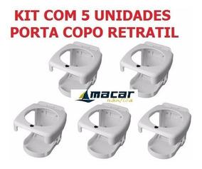 Kit C/ 5 Porta Copos Retrátil Dobravel Barcos Lanchas Carros