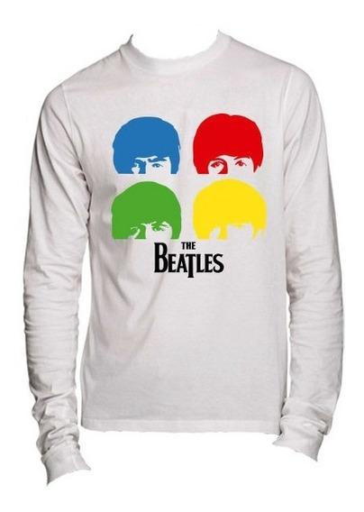 Playeras The Beatles John Lennon Manga Larg -15 Modelos Disp
