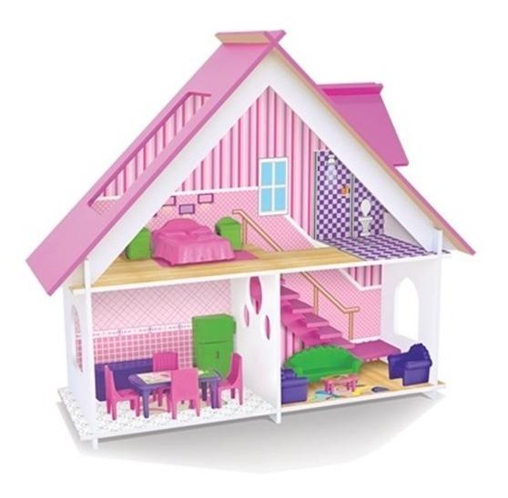 Casa Casinha De Bonecas Palácio Sweet Home Com Moveis