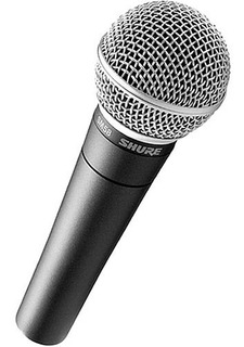 Micrófono Shure Sm58 Profesional Dinámico / Ideal Voces