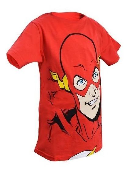 Playera Cara De Flash Rojo Niño