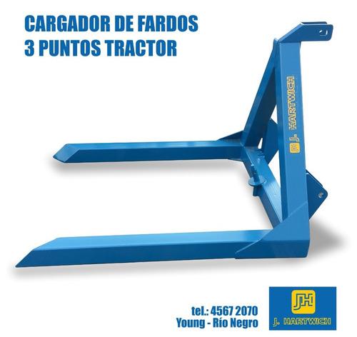 Pincho Cargador De Fardos 3 Puntos Tractor J. Hartwich
