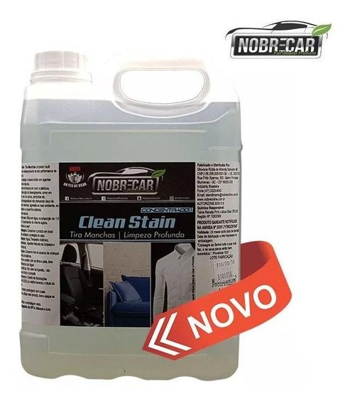 Removedor Manchas Clean Stain 5l Nobre Car Chuva Ácida Tecid
