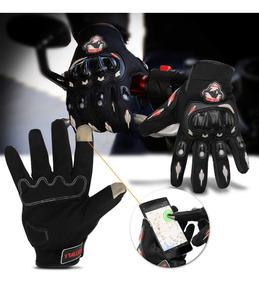 Luva De Proteção Motociclista Reforçada Com Touch Preta