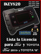 Licencia Para Ford Y Toyota-ikey820 Programador Cerrajero