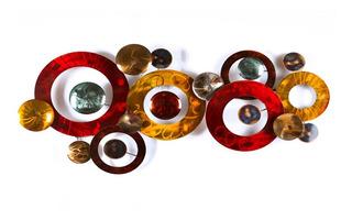 Figura Circulo De Pared En Metal Decorativa Campoamor Deco