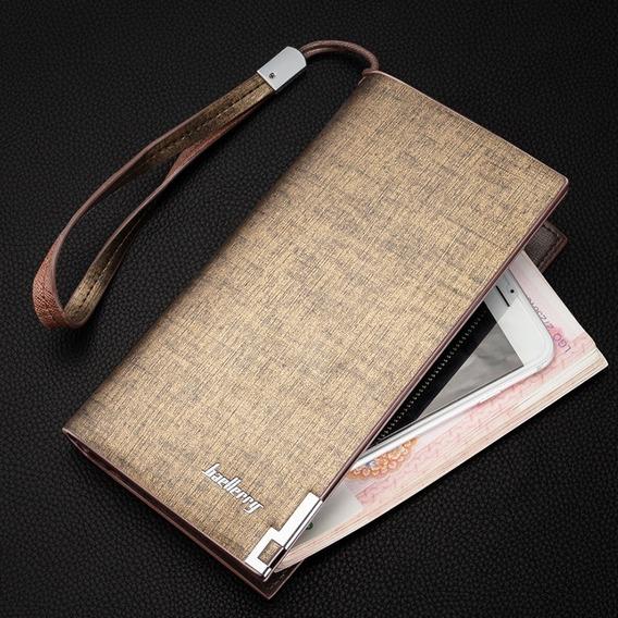 Billeteras Largas Para Hombres Con Compartimientos Elegante