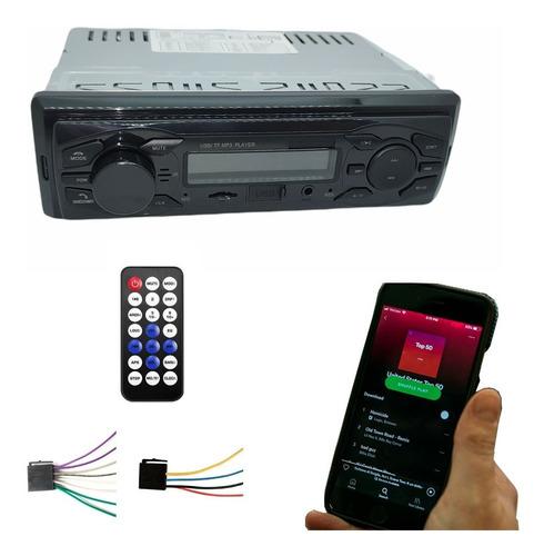 Imagen 1 de 10 de Autoestereo Radio Fm Usb Sd Stereo Auxiliar + Control Remoto