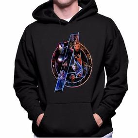 Blusa Moletom Canguru Avengers Simbolo Promoção