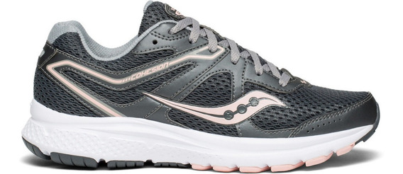 Zapatilla Saucony Running Cohesion 11 Mujer Gris/durazno