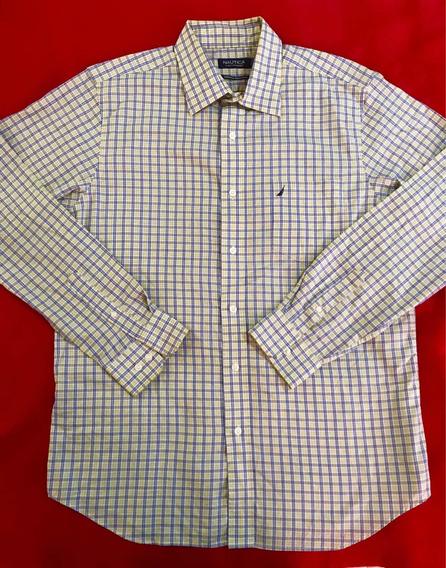 Camisa Nautica 100% Original Talla /no Tommy Lacoste Polo