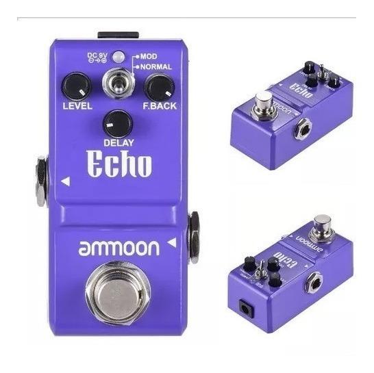 Novo Pedal Guitarra - Electro De Efeito Echo Delay F.back