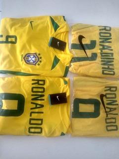 Camisa De Times Europeu Retrô Craques Brasileiros
