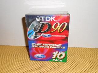 Cassettes Tdk D-90 Tipo I - Paquete De 10 Cassettes (01)