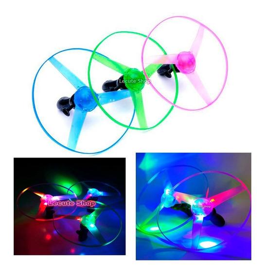 Helicoptero Juguete Luminoso Rosa Luz Led Ufo Frisbee Flecha