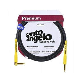 Cabo Para Guitarra Santo Angelo 4,5m P10 L Shogun Ouro.