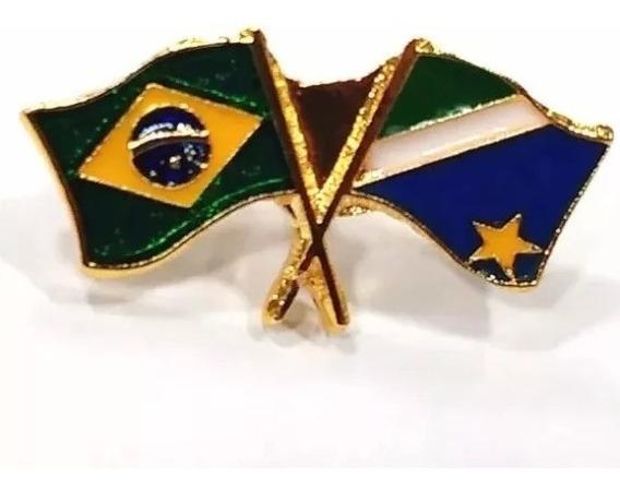 Pim Bótom Broche Bandeira Estado Do Mato Grosso Sul Folheado