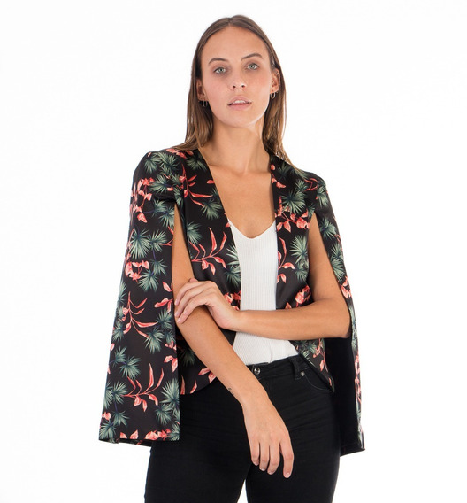 Saco Mujer Capa Chaqueta Blazer Flores Verano Envío Gratis