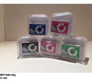 Mini Reproductor Mp3 Hello Kity Clip Spta Hsta 16gb Micro Sd