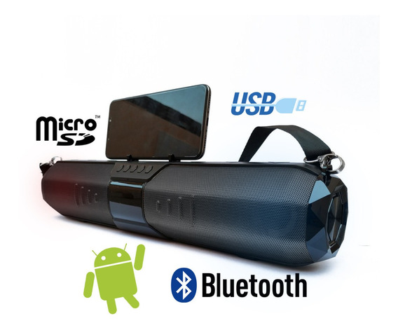 Caixa De Som Pen Drive Usb Bluetooth Led Recarregável 20w Fm