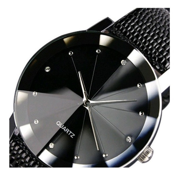 Relógio Feminino De Pulso Prisma Diamante Negro