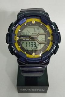 Reloj Kevingston Digital Hombre. Luz, Cronom, Alarma