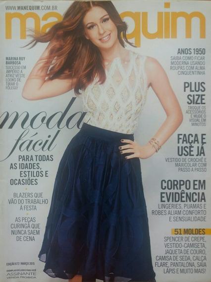Revista Manequim Usada - Marina Ruy Barbosa
