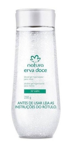 Natura Erva-doce - Álcool Gel - 70 Inpm - Kit Com 2