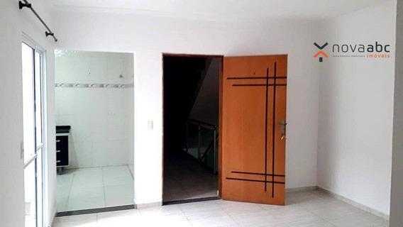 Apartamento Sem Condomínio Para Locação Na Vila Homero Thon, 60m² E 2 Dormitórios Com Suíte Por R$1500 - Santo André - Ap1001