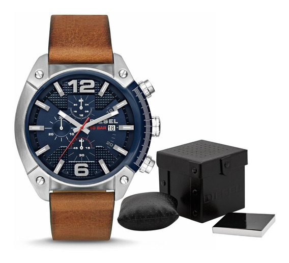 Relógio Masculino Diesel Dz4400 Original Na Caixa Couro