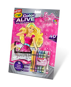 Crayola Color Vivo Acción Para Colorear Barbie