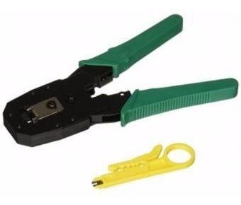 Crimpeador Metalica Para Red Rj45 Rj11+pela Cable + Cuchila