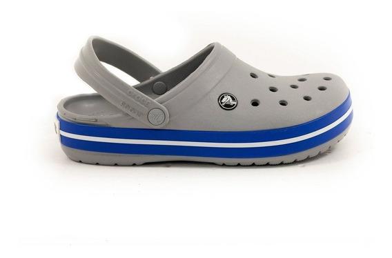 Crocs Crocband Originales Light Grey Cerulean Blue Unisex