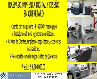 Traspaso Empresa De Impresion Digital