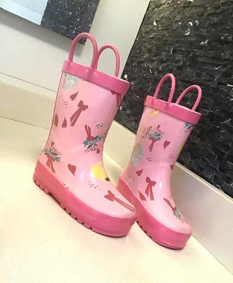Botas Importadas Disney De Lluvia, Agua, Lodo, Jebe