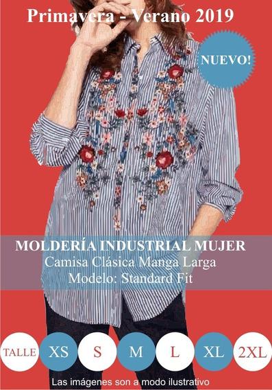 Molderia Industrial Moda / Camisa Clásica Manga Larga